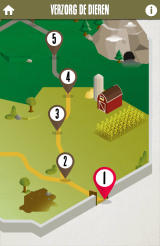 Delhaize: Animal Parc Android The level map