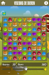 Delhaize: Animal Parc Android Get the target score with 39 moves left.