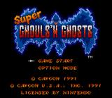 Super Ghouls 'N Ghosts SNES Title screen