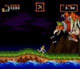 Super Ghouls 'N Ghosts SNES Facing the first boss - in underwear