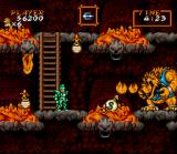Super Ghouls 'N Ghosts SNES Every game needs a lava level