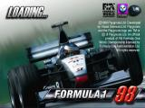 Formula 1 98 PlayStation The game's title screen<br>After this there's an animated introduction which runs for a while then this screen reappears with a progress bar as the game itself loads