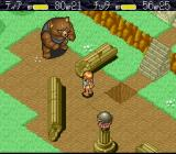 Monstania SNES Lure the bear to the hole
