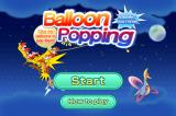 Balloon Popping Browser Title screen.