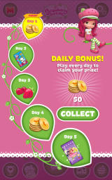 Strawberry Shortcake: Berry Rush Android A daily bonus