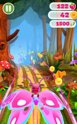 Strawberry Shortcake: Berry Rush Android Fly and collect coins with the butterfly power-up.