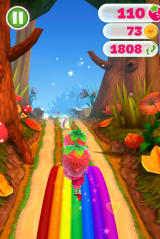 Strawberry Shortcake: Berry Rush Browser Riding the rainbow.