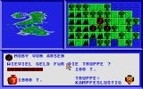 Asgard Atari ST In the beginning you have three armies. Morale is up. Amount of money spent on amies can be chosen