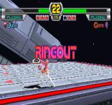 Star Gladiator: Episode 1 - Final Crusade PlayStation Games can also be won by forcing the opponent out of the ring