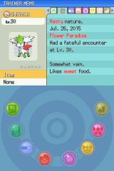 Pokémon Platinum Version Nintendo DS With the Gracidea, Shaymin can transform into its new Sky Forme.