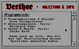 Verthor Atari ST Instructions with credits