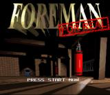 Foreman for Real SNES Title Screen