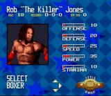 Foreman for Real SNES Selecting a boxer