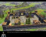SpellForce: The Order of Dawn Windows Cut-scene showing the liberated castle