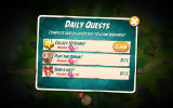 Angry Birds 2 Android Some of the daily quests. After completing them you can claim a reward.