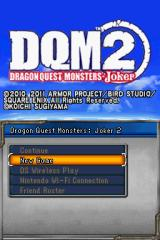 Dragon Quest Monsters: Joker 2 Nintendo DS Title screen