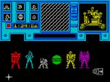 Shadowfire ZX Spectrum Character selection screen