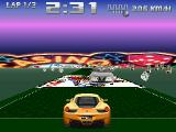"Racer 2 Atari ST On the opposite, the ""Casino"" track is quite colorful. In the arcade mode, you have to avoid the cars coming from front"
