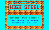 High Steel Amstrad CPC Another title screen