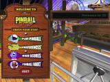 3-D Ultra Pinball: Thrillride Windows The main menu<br>As the cursor moves over the options some explanatory text is displayed