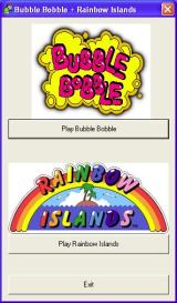 Arcade 2 Collection Windows Bubble Bobble and Rainbow Islands are on the same CD and install together. The install screen then becomes a launch screen. The games can also be launched from their desktop icons
