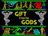 Gift from the Gods ZX Spectrum Title screen.