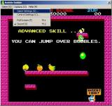 Arcade 2 Collection Windows Bubble Bobble plays by itself until the player starts the game. There are game configuration options in the menu bar