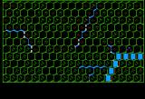 The Battle of Shiloh Apple II The map before the units have loaded in and blocked part of the view.