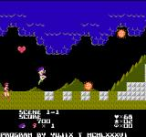 Dirty Pair: Project Eden NES Section 1-1 in two-player mode.