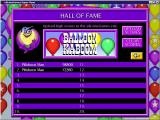 Balloon Kaboom Windows The high score table<br>When the game was released scores could be uploaded to an on-line Hall of Fame. Sadly this website is no longer active