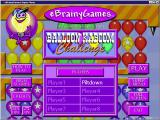 Balloon Kaboom Challenge Windows The initial game screen<br>The game supports multiple player identities, these are the names used when scores are uploaded, it does not support multiple players