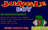 Jungle Boy Atari ST Info screen