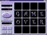 Charmed Windows Game Over!<br>When there are no more matches the player clicks the 'No Match' button to advance to the next level. If they get it wrong it's the end of the game. That's what happened here