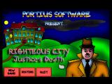 Righteous City: Part I Windows Title screen