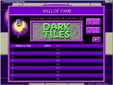 Dark Tiles Windows The high score table<br>When the game was released scores could be uploaded to an on-line Hall of Fame. Sadly this website is no longer active