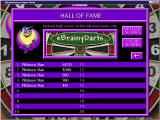 eBrainyDarts Windows The high score table<br>It does not show which scores relate to which games<br>When the game was released scores could be uploaded to an on-line Hall of Fame. Sadly this website is no longer active