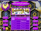 Spelling Bee Windows The initial game screen<br>The game supports multiple player identities, these are the names used when scores are uploaded, it does not support multiple players