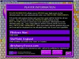 Sunken Treasure Windows This screen is used to create and to confirm a players identity. Once created the identity is available to all games accessed via eBrainyGames' Super Menu