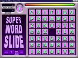 Super Word Slide Windows The start of a game<br>The inset coloured bar at the top is a countdown timer