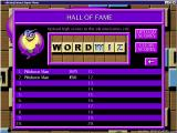 Word Wiz Windows The high score table<br>When the game was released scores could be uploaded to an on-line Hall of Fame. Sadly this website is no longer active