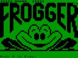 Frogger Timex Sinclair 2068 Title screen