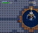 Neugier: Umi to Kaze no Kōdō SNES Large room with a statue