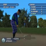 Tiger Woods PGA Tour 2003 PlayStation 2 Club selection is automatic<br>The blue arrow by the flag is where the golfer is aiming. It can be moved, say to allow for the wind, via the D Pad