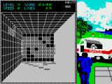 Welltris ZX Spectrum Level 3 with a pizza-van.