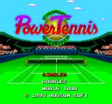 Power Tennis TurboGrafx-16 Title screen