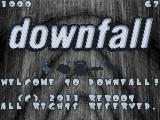 Downfall Atari ST Title screen with choice of controller