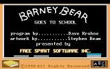 Barney Bear Goes to School CDTV Menu with credits
