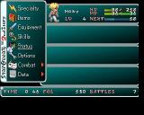 Star Ocean: The Second Story PlayStation This is the inventory screen.<br>Within the sub levels are options to combine items