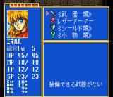 Princess Minerva SNES Equipment screen