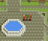 Princess Minerva SNES Fountain in a large city